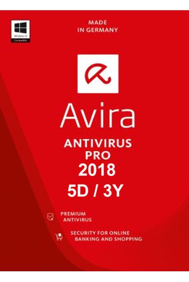 Avira Antivirus Pro 2018 - 5 Device 3 Year