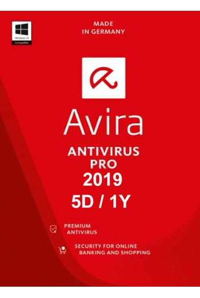 Avira Antivirus Pro 2019 - 5 Device 1 Year