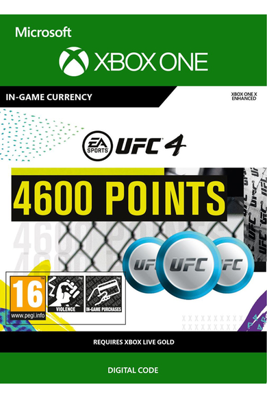 EA Sports UFC 4 - 4600 UFC Points (Xbox One)