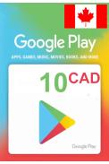 Google Play 10 (CAD) (Canada) Gift Card