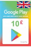 Google Play £10 (GBP) (UK - United Kingdom) Gift Card