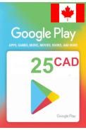 Google Play 25 (CAD) (Canada) Gift Card