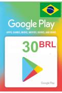 Google Play 30 (BRL) (Brazil) Gift Card
