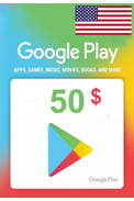 Google Play $50 (USD) (USA/North America) Gift Card