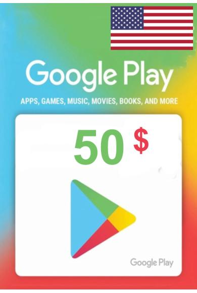Google Play $50 (USD) (USA/North America) Gift Card