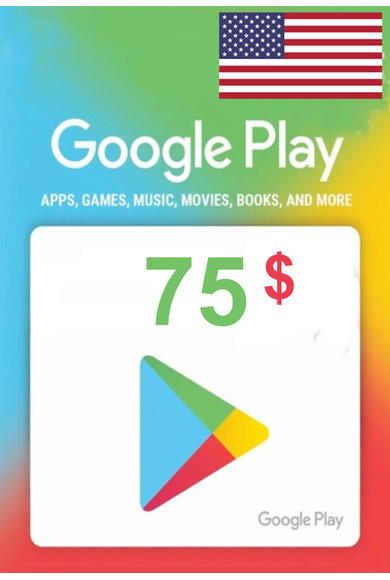 Google Play $75 (USD) (USA/North America) Gift Card