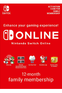 Nintendo Switch Online - 12 Month (365 Day - 1 Year) Family Membership