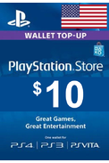PSN - PlayStation Network - Gift Card $10 (USD) (USA)
