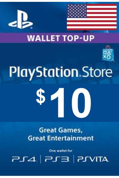PSN - PlayStation Network - Gift Card $10 (USD) (USA)