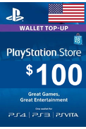 PSN - PlayStation Network - Gift Card $100 (USD) (USA)
