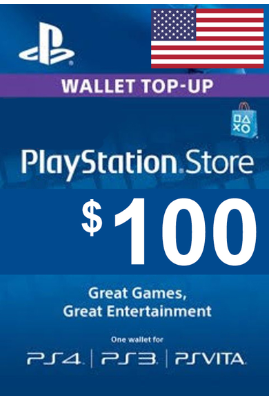 PSN - PlayStation Network - Gift Card $100 (USD) (USA)