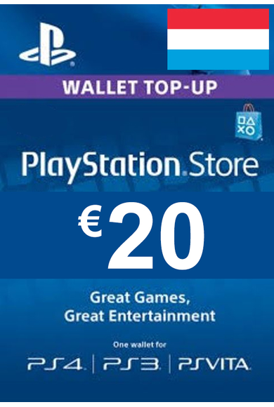 PSN - PlayStation Network - Gift Card 20 (EUR) (Luxembourg)