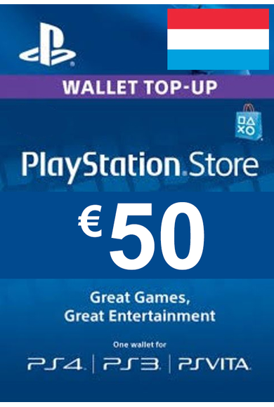 PSN - PlayStation Network - Gift Card 50 (EUR) (Luxembourg)