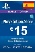 PSN - PlayStation Network - Gift Card 15€ (EUR) (Spain) (PS4)