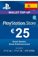 PSN - PlayStation Network - Gift Card 25€ (EUR) (Spain) (PS4)