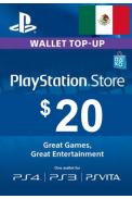 PSN - PlayStation Network - Gift Card $20 (USD) (Mexico)