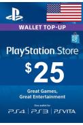 PSN - PlayStation Network - Gift Card $25 (USD) (USA)