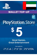 PSN - PlayStation Network - Gift Card $5 (USD) (United Arab Emirates - UAE)