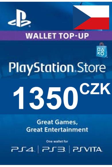 PSN - PlayStation Network - Gift Card 1350 (CZK) (Czech Republic)