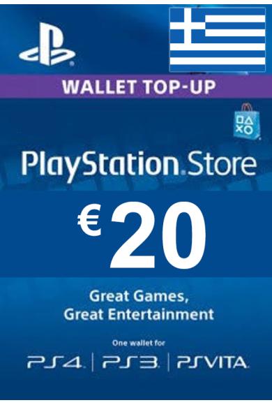 PSN - PlayStation Network - Gift Card 20€ (EUR) (Greece)
