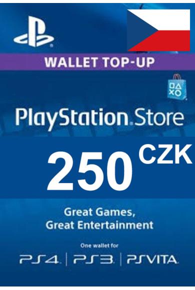 PSN - PlayStation Network - Gift Card 250 (CZK) (Czech Republic)