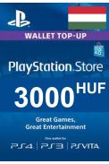 PSN - PlayStation Network - Gift Card 3000 (HUF) (Hungary)