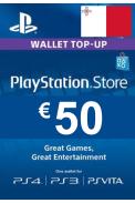 PSN - PlayStation Network - Gift Card 50€ (EUR) (Malta)
