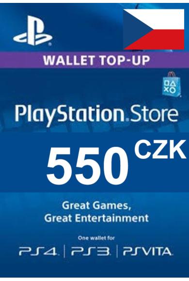 PSN - PlayStation Network - Gift Card 550 (CZK) (Czech Republic)