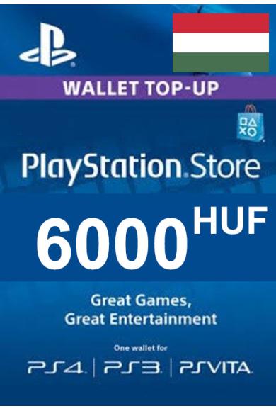 PSN - PlayStation Network - Gift Card 6000 (HUF) (Hungary)