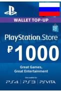 PSN - PlayStation Network - Gift Card 1000 (RUB) (Russia - RU/CIS)