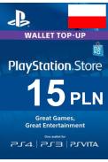PSN - PlayStation Network - Gift Card 15 (PLN) (Poland)