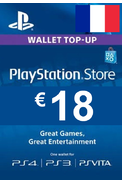 PSN - PlayStation Network - Gift Card 18€ (EUR) (France)