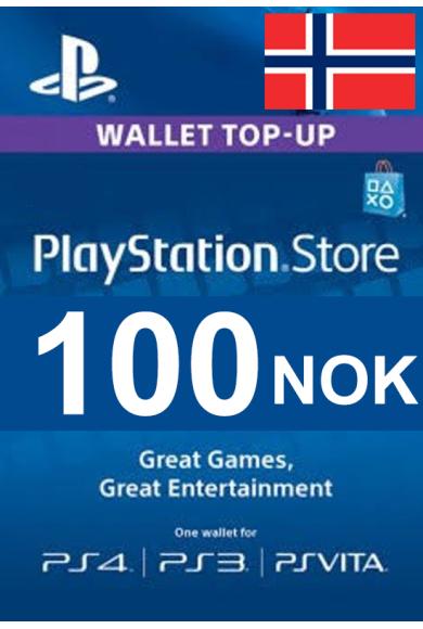 PSN - PlayStation Network - Gift Card 100 (NOK) (Norway)