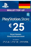 PSN - PlayStation Network - Gift Card 25€ (EUR) (Germany)