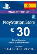 PSN - PlayStation Network - Gift Card 30€ (EUR) (Spain)