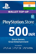 PSN - PlayStation Network - Gift Card 500 (INR) (India)