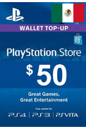PSN - PlayStation Network - Gift Card 50$ (USD) (Mexico)