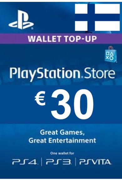 PSN - PlayStation Network - Gift Card 30€ (EUR) (Finland)