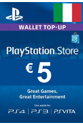 PSN - PlayStation Network - Gift Card 5€ (EUR) (Italy)