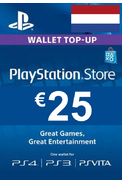PSN - PlayStation Network - Gift Card 25€ (EUR) (Netherlands)