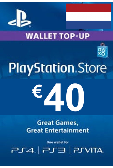 PSN - PlayStation Network - Gift Card 40€ (EUR) (Netherlands)