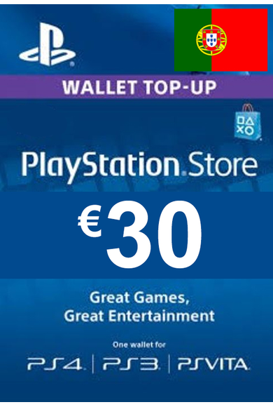 PSN - PlayStation Network - Gift Card 30€ (EUR) (Portugal)