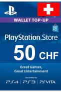 PSN - PlayStation Network - Gift Card 50 (CHF) (Switzerland)