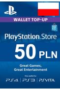 PSN - PlayStation Network - Gift Card 50 (PLN) (Poland)
