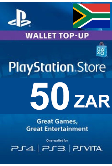 PSN - PlayStation Network - Gift Card 50 (ZAR) (South Africa)