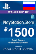PSN - PlayStation Network - Gift Card 1500 (RUB) (Russia - RU/CIS)