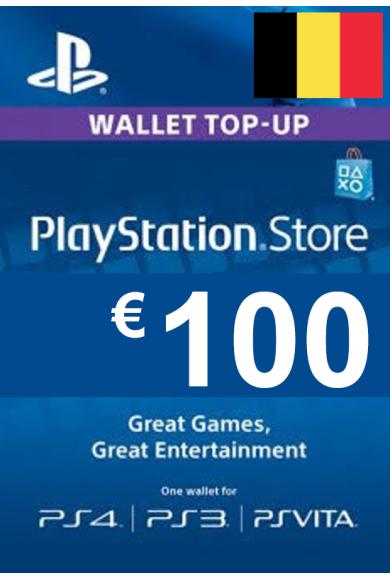 PSN - PlayStation Network - Gift Card 100€ (EUR) (Belgium)