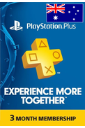 PSN - PlayStation Plus - 90 days (Australia) Subscription