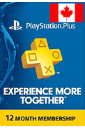 PSN - PlayStation Plus - 365 days (Canada) Subscription