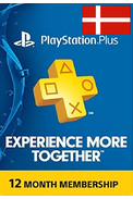 PSN - PlayStation Plus - 365 days (Denmark) Subscription